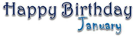 Title Happy Birthday January