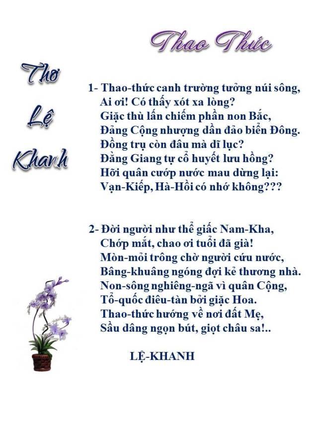 Tho Le Khanh _Thao Thuc