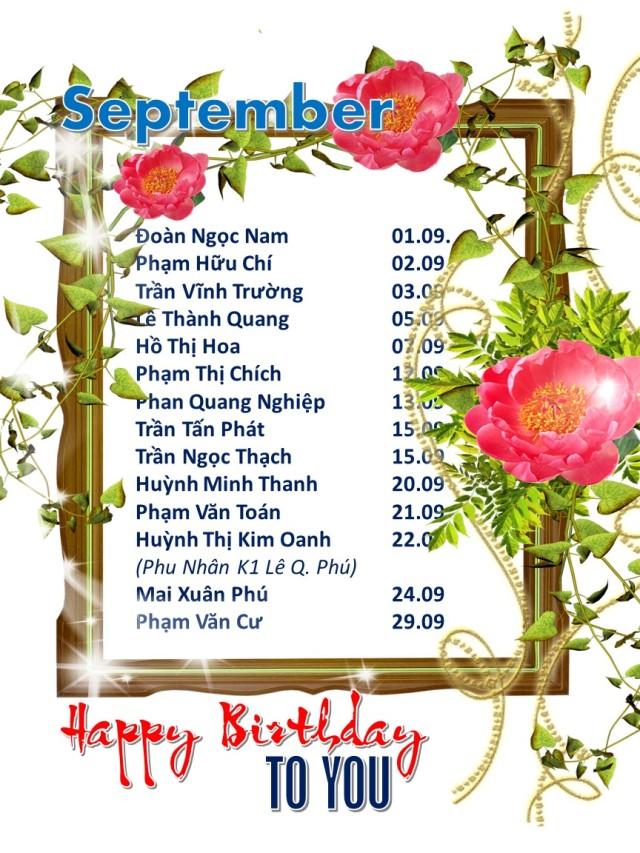 Happy birthday september