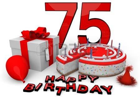75 year happy b'day